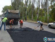 У Нікополі продовжують  поточний ремонт міських доріг та тротуарів