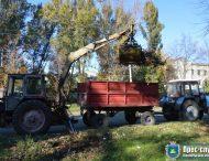 30 жовтня працівники «Міськавтодору-1» проводили роботи з благоустрою міста