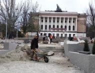 У Марганці триває реконструкція центральної площі