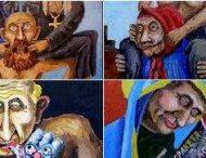 В сети опубликовали подборку курьезных карикатур на Путина