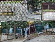 В сети высмеяли детские площадки за решеткой в Крыму
