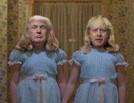 Борис Джонсон и Дональд Трамп стали посмешищем: словно близнецы из «Сияния»