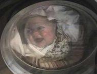 В сети обсуждают курьез с отцом, который испугался за ребенка в стиральной машине