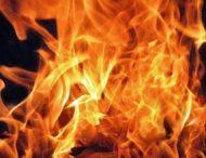 На Дніпропетровщині вогонь повністю знищив гараж (Фото)