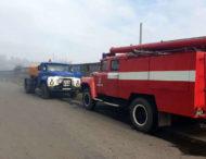 На Дніпропетровщині — масштабна пожежа