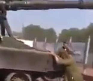 Самоходная артиллерийская установка РФ внезапно стала неуправляемой