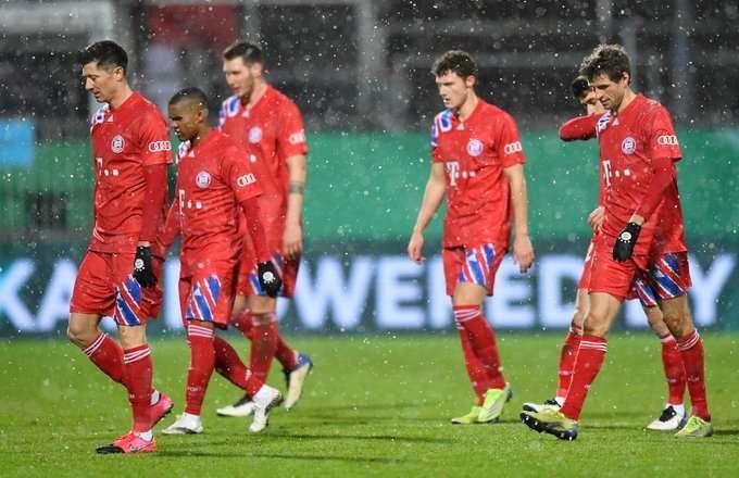 «Бавария» вылетела из Кубка Германии, проиграв команде второй Бундеслиги