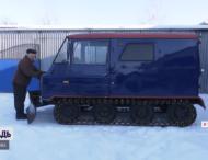 Украинец смастерил снегоход