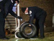 Американке во двор упало колесо от самолета
