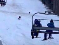 Лыжник едва не попал в лапы медведя