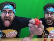 Парень побил собственный рекорд по поеданию самого острого перца в мире