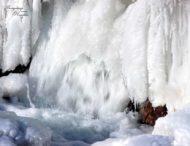 Самый большой водопад Украины замерз