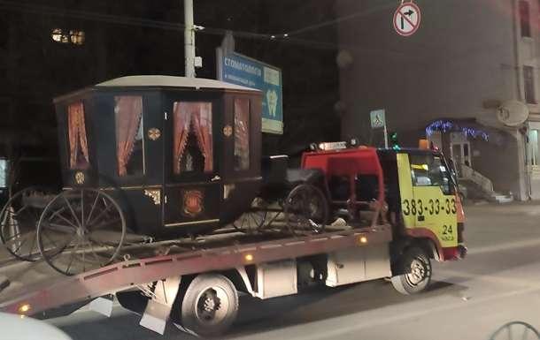 В столице эвакуатор увез карету