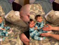 Малыши удивили реакцией, увидев отца без бороды