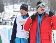 Лукашенко «победил» в лыжной гонке