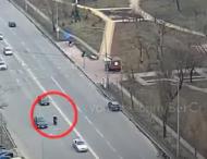 Полиция пытались задержать водителя мотороллера