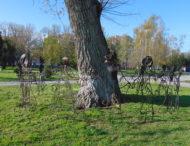 В Никополе появился еще один арт-объект «Хоровод».