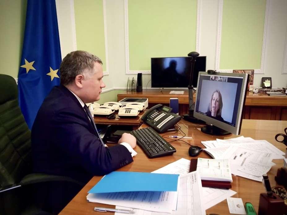 Ігор Жовква обговорив з радником Президента Латвії протидію коронавірусу, безпекову ситуацію на Донбасі та підтримку євроінтеграції України