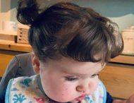 Волосы годовалой девочки выросли на 25 см.