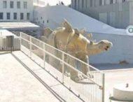 В статуе динозавра нашли тело пропавшего мужчины